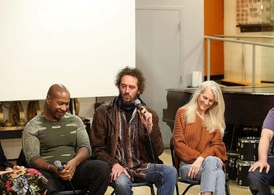 L. Trey Wilson Michael Sommers, Sandra Fish at the Live Sense 8 Podcast Event In San Francisco
